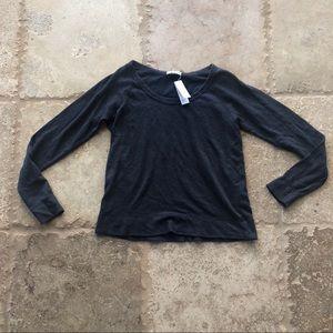 James Perse NWT $125 Dark Gray Sweater Sz 1 Soft